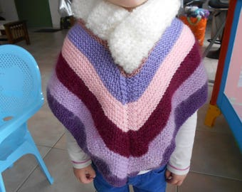 baby girl knit poncho seven colors