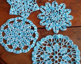 various doilies handmade