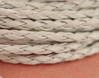 White braided cord