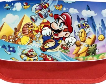 Personalised mario zipped pencil makeup case school ds bag gift xmas
