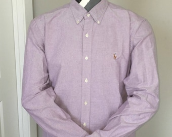 Polo Ralph Lauren-Oxford Long Sleeve Button Down-Purple