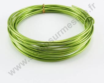Transparent glass Ø 2 mm x 5 m - Apple green-