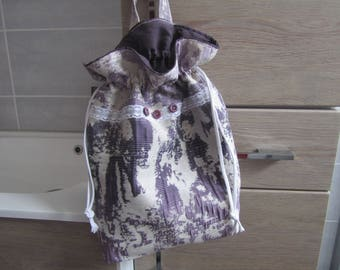 Great bag pouch linen ruffled and double fabric plain fabric