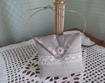 Pincushion door or cabinet filled with Lavender linen and cotton