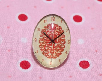 Glass cabochon oval pattern dials Chinese 18 / 25mm