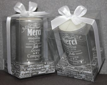 2 candles gifts with personal message