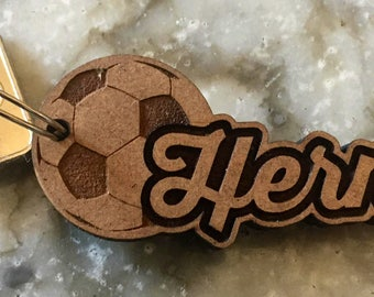 Personalized Keychain - keyring wooden