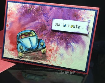 """map car on colored """"on the road..."""""""