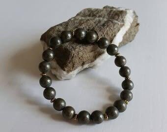Pyrite Bracelet - 8 mm beads