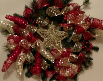 Shining Star Christmas Wreath