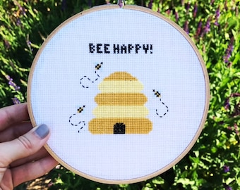 Bee Hive Cross Stitch