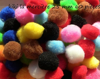 pom poms balls mini set of 120 assorted 15 mm 12 colors to sew or paste