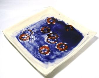 Modern artisan ware plate