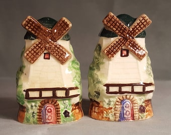 Vintage Windmill Salt and Pepper Shakers