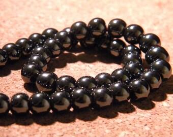 set of 35 beads hematite 6mm round