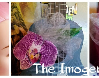 The Imogene - Tiki Hair Clip with tulle