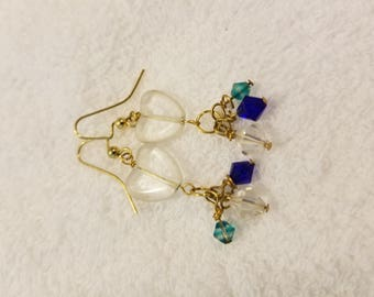 Heart with crystals earrings