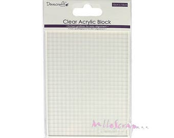 Acrylic block 10 X 15 cm for rubber stamps scrapbooking card making (ref.110) embellishment