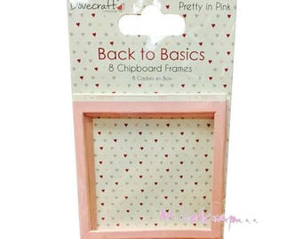 "Set of 8 frames chipboard pink cardboard ""Dovecraft"" embellishment scrapbooking card making (ref.110). *."