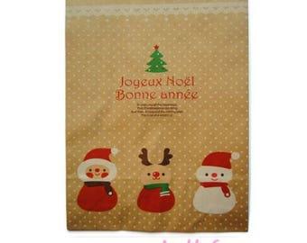 "Set of 2 big bag or Kraft envelopes special ""NOEL"" scrap paper *."
