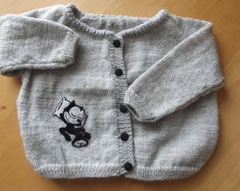 grey Cardigan open front baby 3 to 6 months
