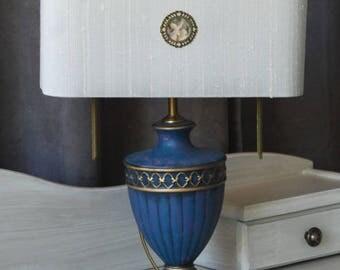 Light blue base, lamp - silver grey day