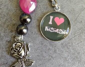 jewel bags I love MOM heart