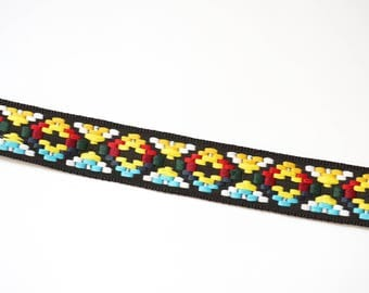 Ethnic multicolor 27 mm woven Ribbon trim