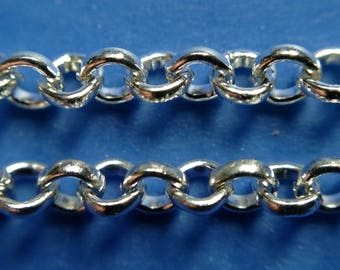 lot 2 m silver 2mm steel curb link chain