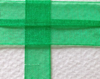 coil 45 m set green organza Ribbon 10mm