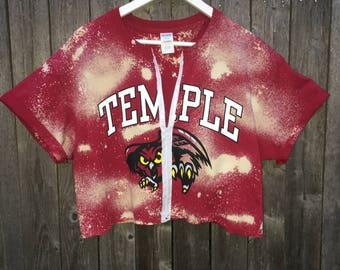 Temple acid wash tee