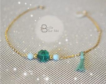 """Luck"" Or Gold filled 14K Crystal Swarovski - BrilleSurMoi - Beads Bracelet"