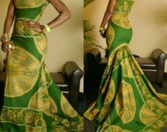 Ankara Evening Gown