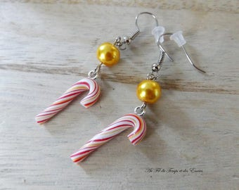 Drop earrings  Sugar of barley Christmas 2016