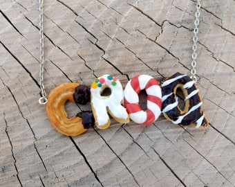 "Necklace donuts and gourmet cakes ""CROQ"""