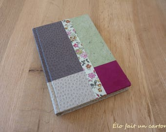 Book spring green, Brown, beige and fuchsia