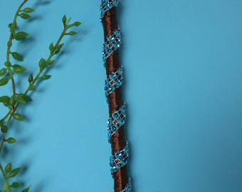 Pen for guestbook - chocolate and turquoise