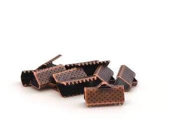 10 ribbons copper 13 mm antique claw clips