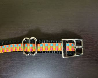 "3/4"" Orange Jacquard Dog Collar"
