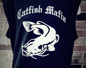 Black Sleeveless Catfish Mafia T-shirt