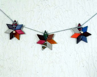 Multicolored to hang on your door or wall decorative stars Garland