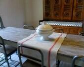 Chemin de table en toile à torchons ancienne jamais utilisée