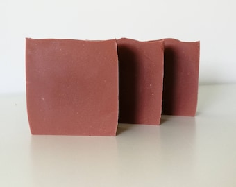 CLEARANCE Aussie Pink Clay & Pumice soap // cold processed handcrafted // natural clay soap // exfoliating soap // pumice stone soap