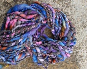 fancy hand spun wool 110 g