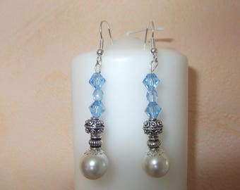 Glass and Crystal beads earrings