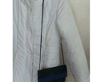 Bag pouch denim lined pouch by BAGART jean denim clutch bag
