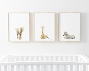 nursery art prints, elephant art, nursery decor, elephant prints, nursery wall art, nursery prints, elephant artwork, elephant wall art