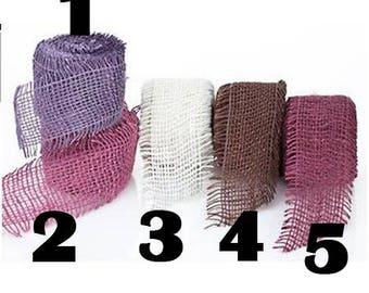 NO5 - burlap Ribbon - 5cm
