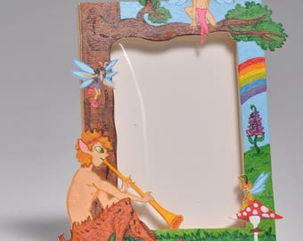 Wooden picture frame the people of the fairies