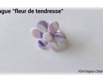 """ring """"tenderness flower"""" pink and purple"""